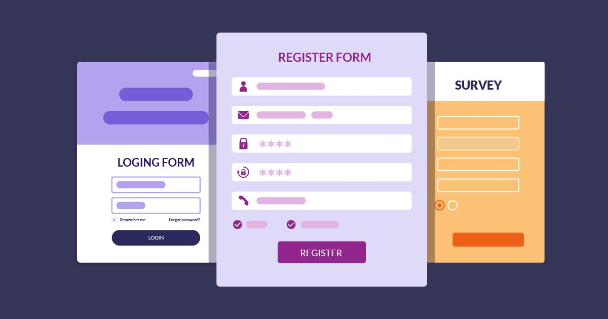 You should create an online form